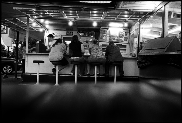 Black and White Photograph: Soda Fountain, Cloverdale