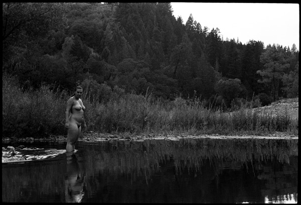 Black and White Photograph, Nude at the River, 2008