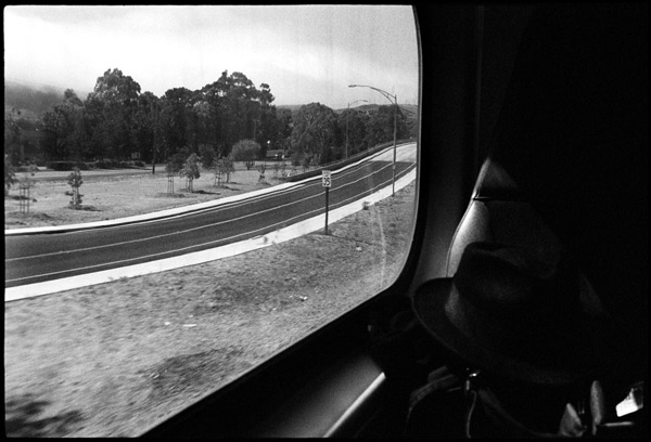 Black and White Photograph: Southbound Train Window