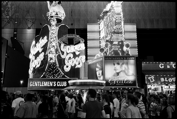 Black and White Photographs: Fremont St., Old Las Vegas