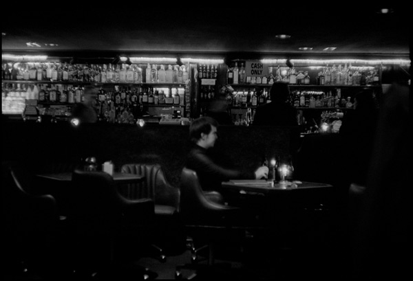Black and White Photograph: Drinker, Karaoke Bar