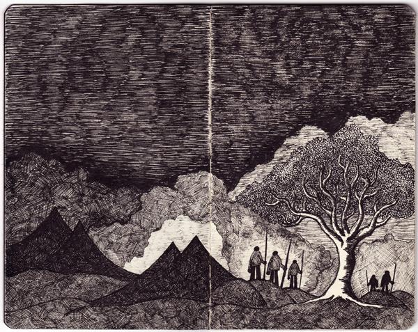 Moleskine Drawings, Landscape #2