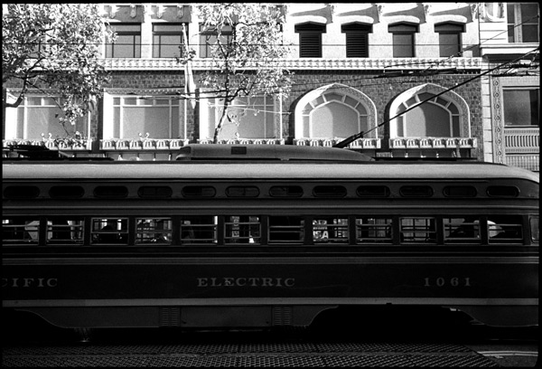Black and White Photograph: F Line, San Francisco