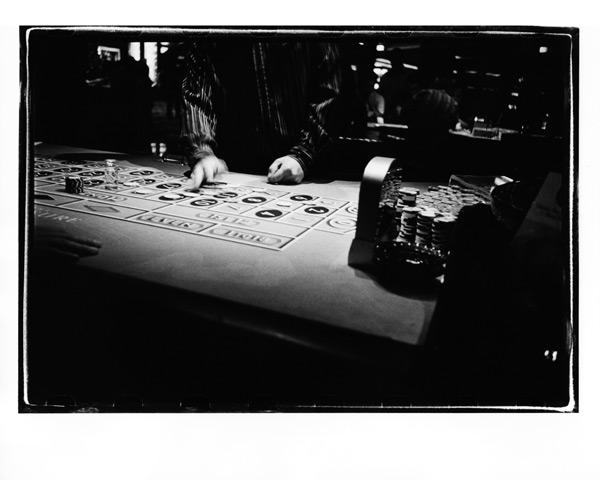 silver gelatin print: roulette table, las vegas