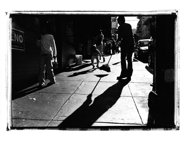 Silver Gelatin Print, Shadows, Chinatown, San Francisco