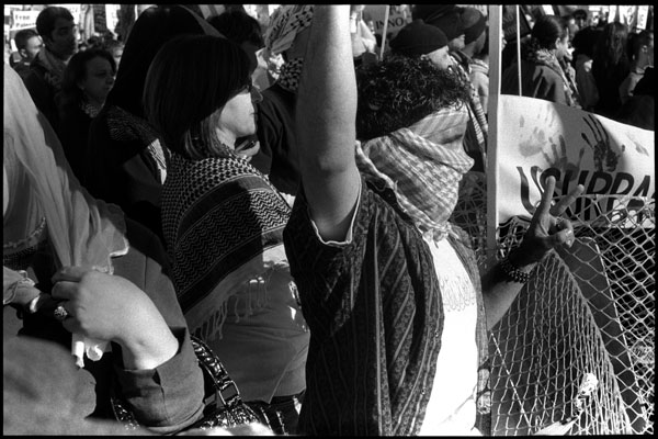 Black and White Photographs: Palestinian Protesters #3