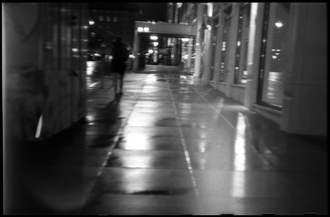 Black and White Photograph: Post St., San Francisco, 1:00 AM