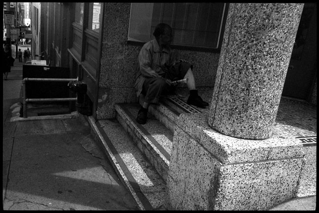 Black and White Photograph: Elderly Man, Chinatown, San Francisco
