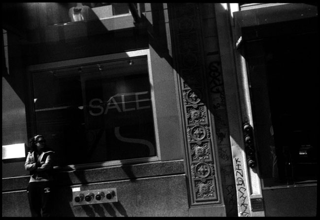 Black and White Photograph: Storefront, Post St., San Francisco