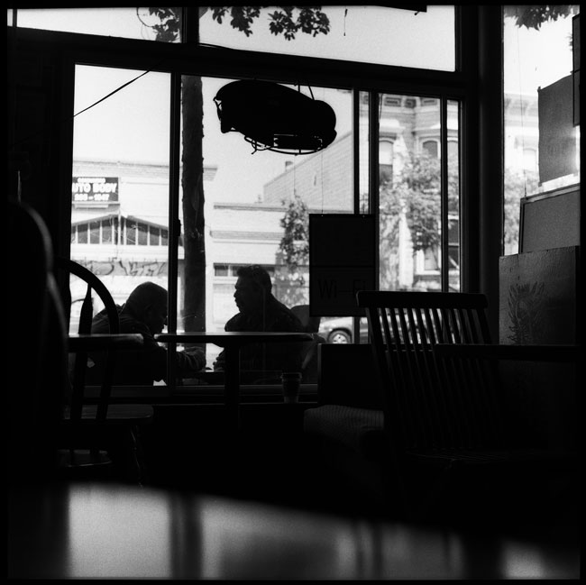 Black and White Photograph: Valencia Cafe