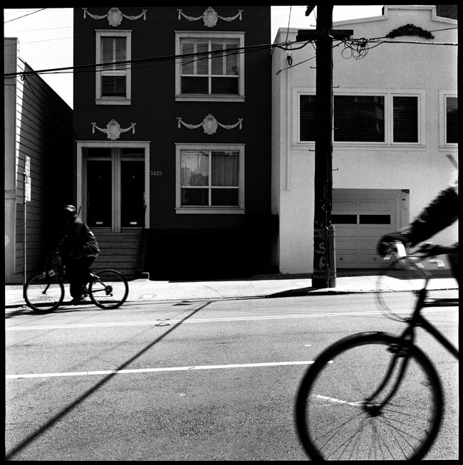 Black and White Photographs: Bicycles, 16th Street