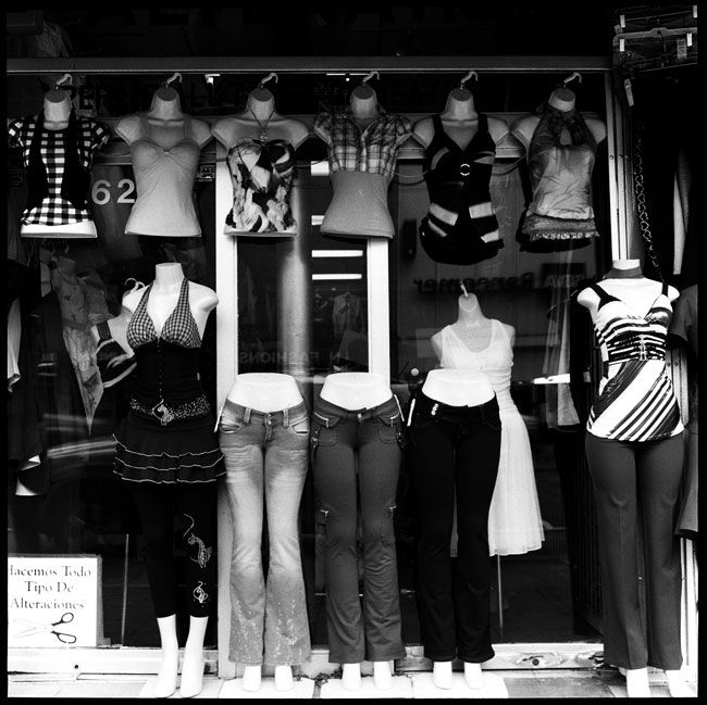 Black and White Photograph: Mannequins on Mission Street