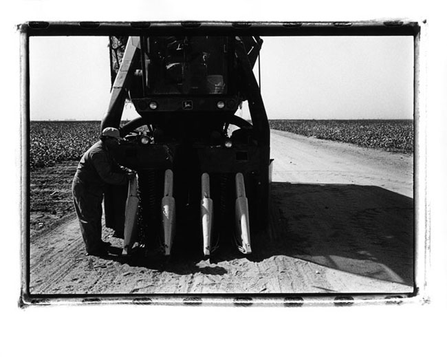 Silver Gelatin Print: Cotton Farmer, Central Valley, California