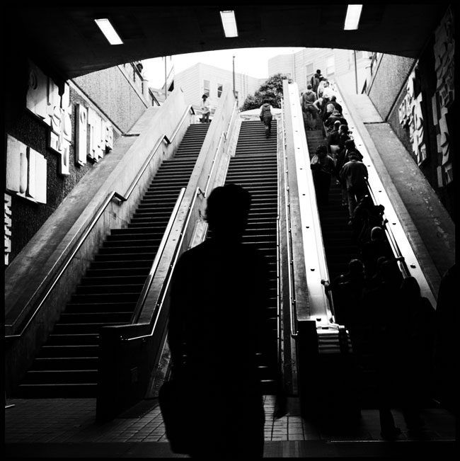 Black and White Photograph: 16th Street & Mission Station