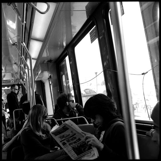 Black and White Photograph: Muni Train, San Francisco