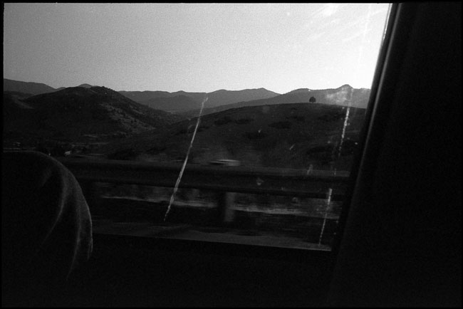 Black and White Photograph: Highway 5 South, Northern California