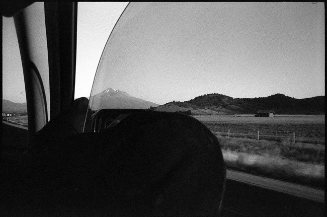 Black and White Photograph: On The Road, Near Mount Shasta...