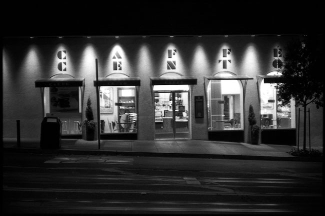 Black and White Photograph: Cafe Centro, Powell St., San Francisco