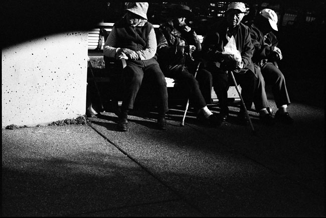 Black and White Photograph: Portsmouth Square, Chinatown San Francisco