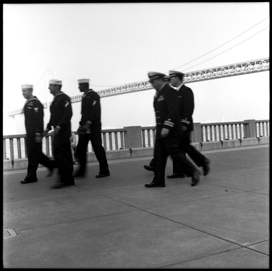 Black and White Photograph: Sailors, The Embarcadero, San Francisco