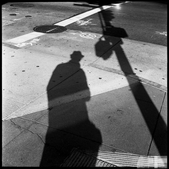 Black and White Photograph: Shadows, Montgomery St., San Francisco