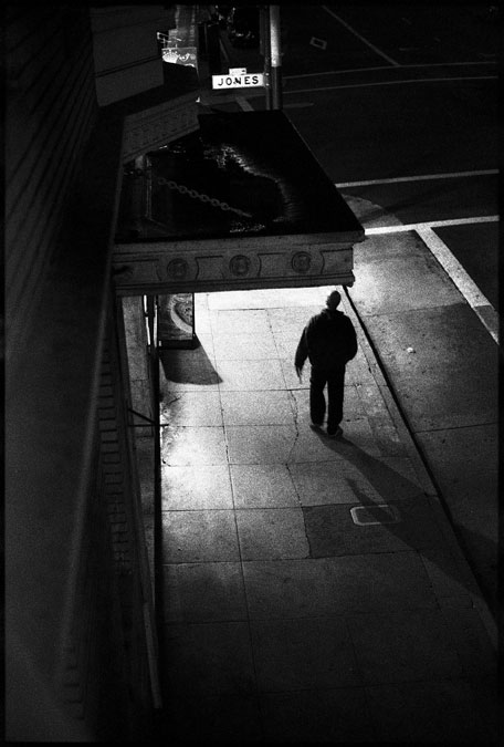 Black and White Photographs: Post and Jones Street, San Francisco, Ca. 2010