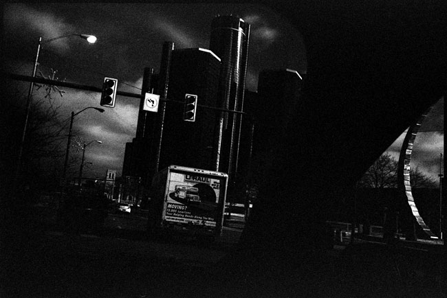 Black and White Photograph: East Jefferson Ave., Detroit, 2010