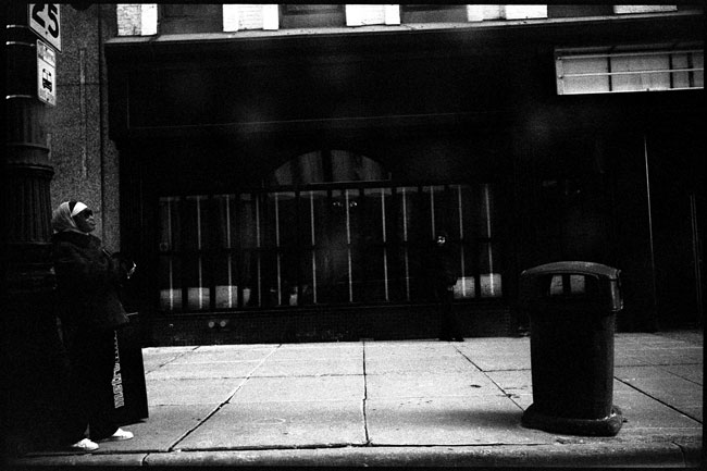 Black and White Photograph: Michigan Ave., Detroit, Michigan, 2010