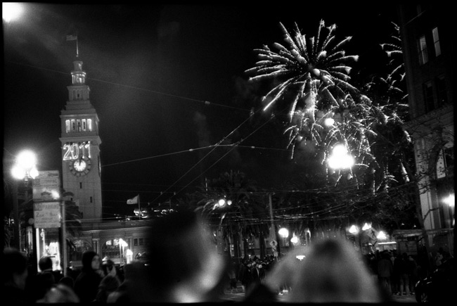 Black and White Photograph: New Years Eve, 2011, San Francisco, California.