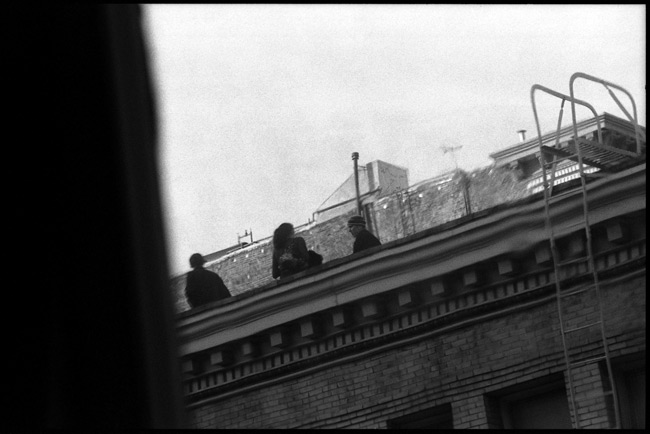 Black and White Photograph: Rooftop, Post Street, San Francisco, California.
