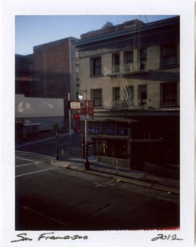 Polaroids: #p20120307_04 Post Street, San Francisco 2012