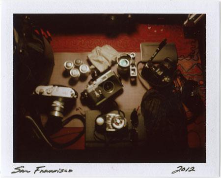 p20120410_04 polaroids, cameras