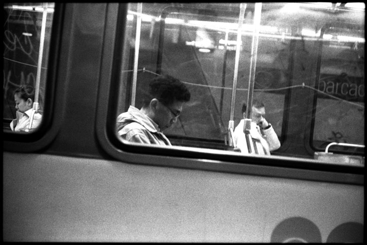 0229_11A black and white photograph, subway train, san francisco, ca 2012