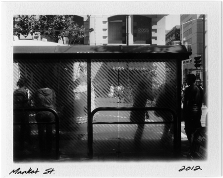 Polaroid #p20120729_09 Market St. San Francisco, 2012