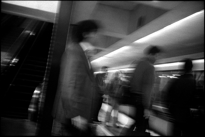 0240_01A Black and White Photograph: Commuters, San Francisco