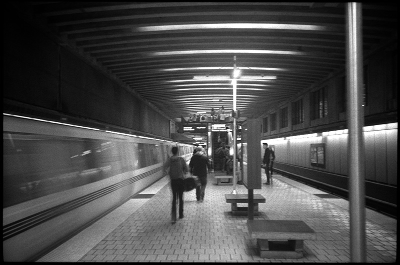 0240_03A Black and White Photograph: Underground Station, Berkeley, California