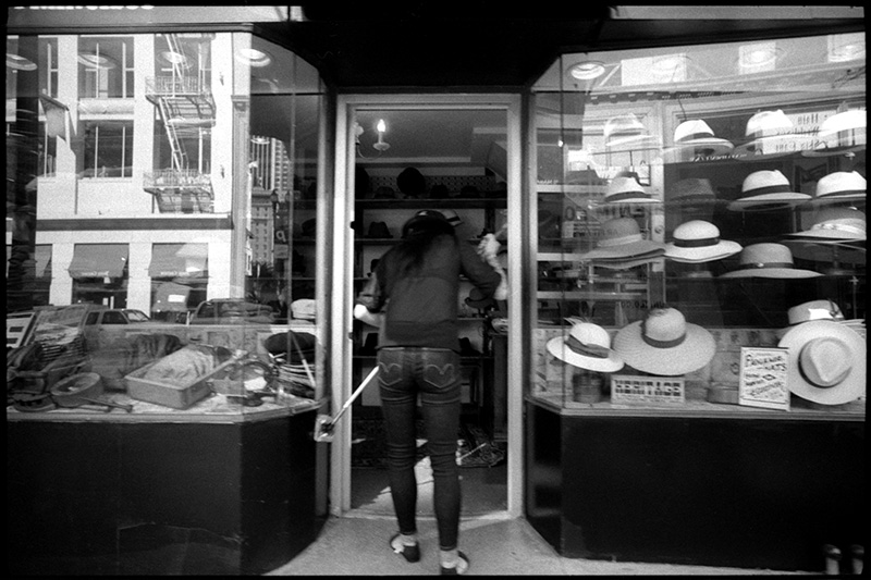 0240_23A Black and White Photograph, Hat Shop, San Francisco