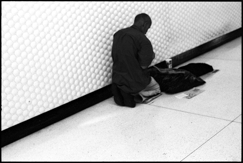 black and white photograph homeless man san francisco