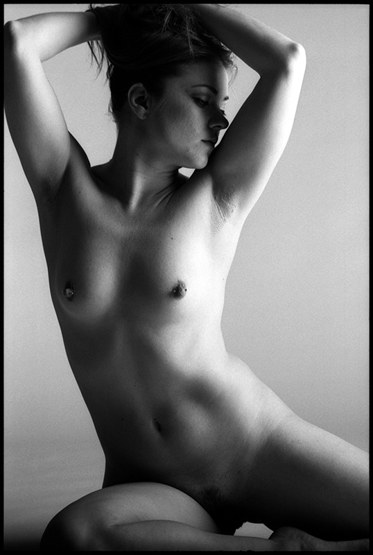 black and white nude photograph
