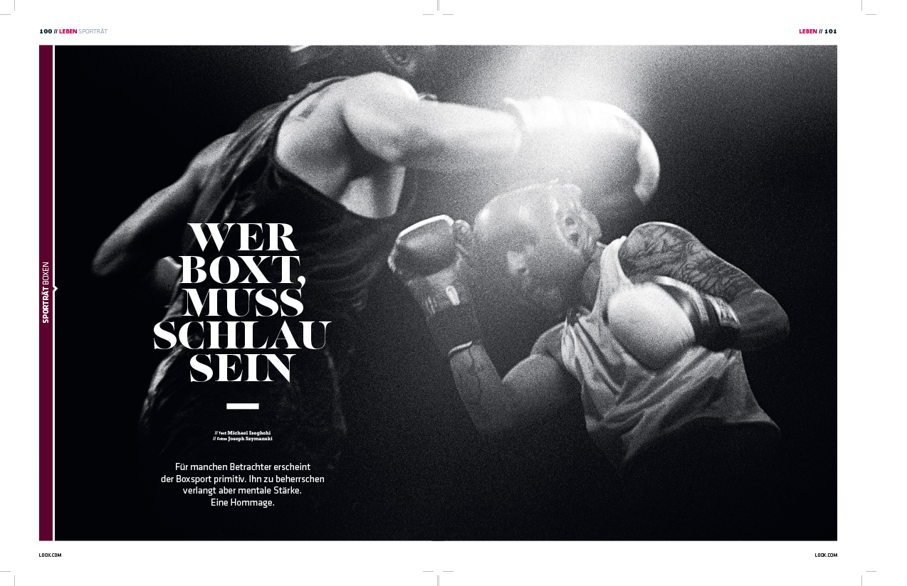 Loox Magazine, Germany - Boxers - Feature Photographs