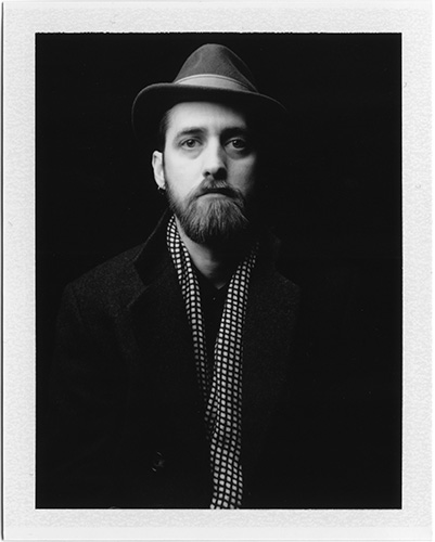 Black and White Polaroid-Self Portrait 2013