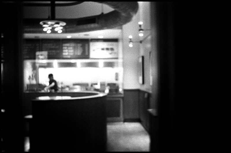 black and white photograph 0277_08A Cafe, San Francisco