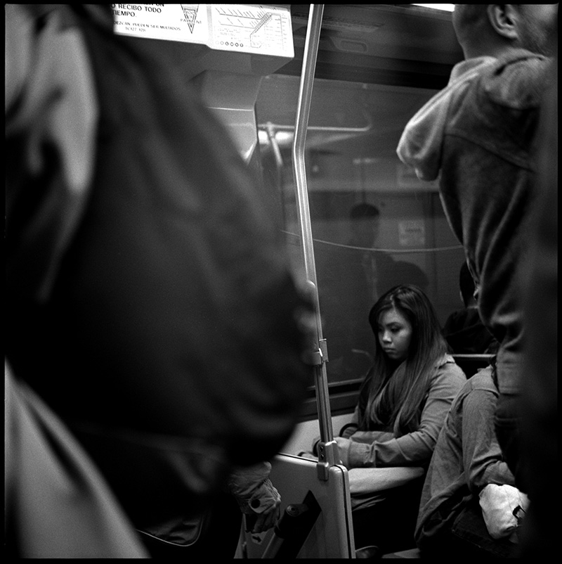 black and white photograph 660116_11 Untitled, L Line Muni Train, San Francisco