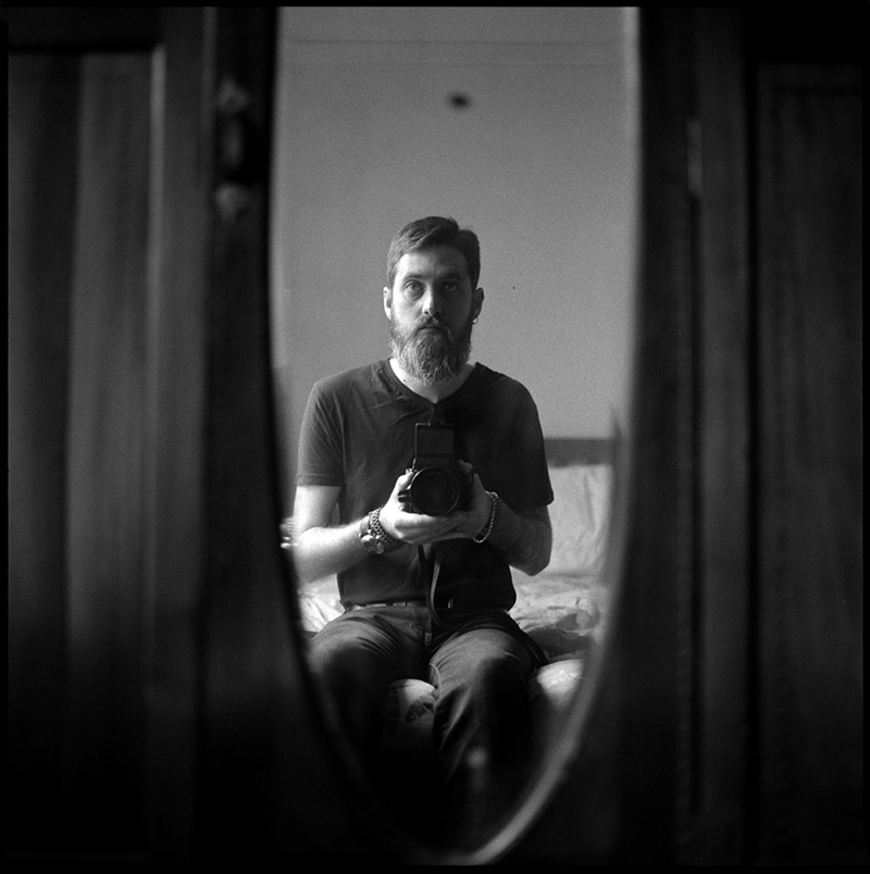 black and white photograph 660118_18 Self Portrait, San Francisco 2014