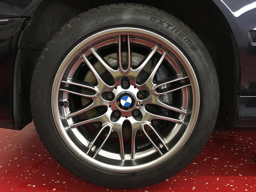 Before Black Pearl Tire Coating