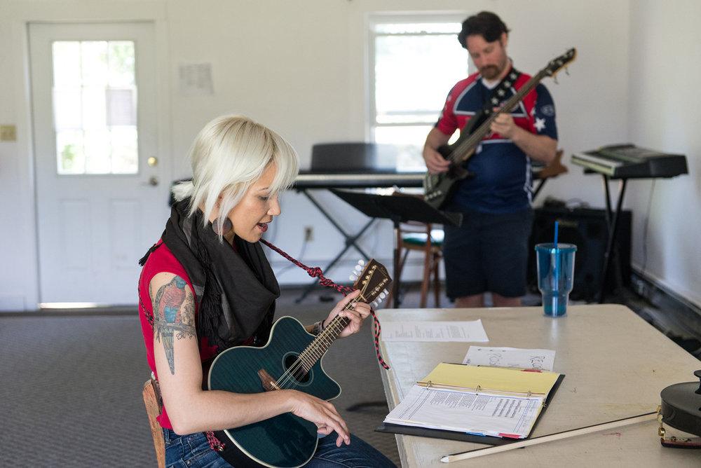 Melissa Dunphy, composer at work.