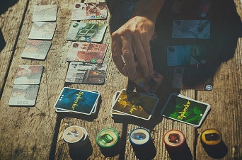 Splendor is a 2014 game of merchants in the Renaissance era, blending light engine building with a bit of tactile enjoyment.Photo thanks to  David M. Goehring !