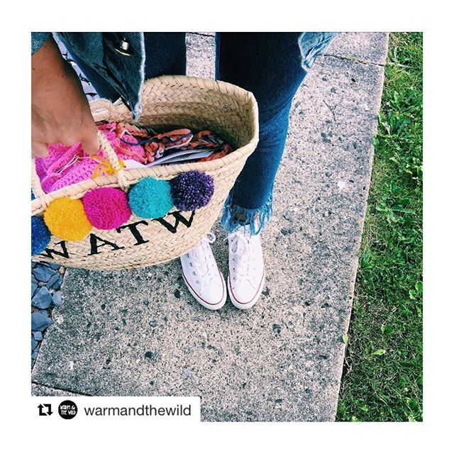 #Repost the amazing @warmandthewild out yarn shopping ready to make their gorgeous Pom Pom and crochets! We love the wicker bag as a replacement for plastic bags... and this one couldn't be more suited! ❤️ ・・・ Busy day today using our personalised WATW - #guidedtor bag, helping us get the jobs done! 💕 if there was a bag anymore fitting for warmandthewild it would have to be Guided Tor I mean just look 👀🔥🙌🏻 SO CUTE!!! #warmandthewild #personalisedbag #independentbrand #supportsmallbusiness #girlboss #collaborations #brandcollab #pompoms #watw #fromwhereistand #ootd #wiwt #crochet #denim #fblogger #wickerbag
