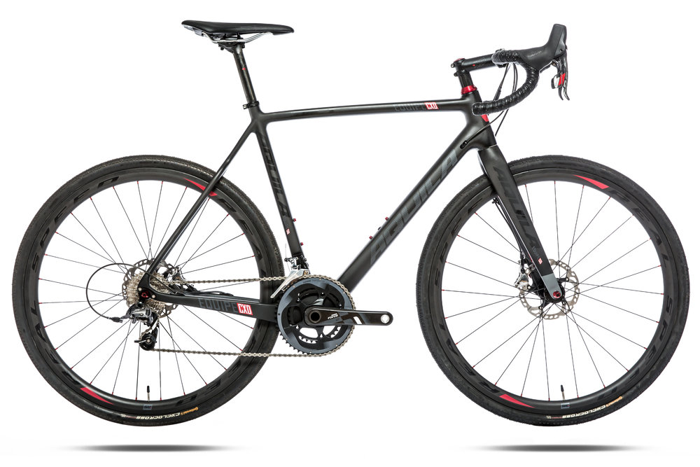 "SRAM Red22 Hydraulic  - Frame – High Modulus Full Carbon Fork- High Modulus Full CarbonHeadset – Token 1-1/8""-1-.1/4""Wheelset – Real Speed RS-CX Carbon ClincherTires – Continental Cyclo XKing (700 x 32)Shifters – SRAM Red22 HydraulicBrakeset – SRAM Red22 HydraulicFront Derailleur – SRAM Red22Rear Derailleur – SRAM Red22Bottom Bracket – SRAM Red BB86Crank- SRAM Red22Chain – SRAM Red22Cassette – SRAM Red22 X-Glide 1190Handlebar – Real Speed HB-AluminumStem – Real Speed RS-7 (-7 degree)Saddle – Fizik KurveSeat post – Real Speed Carbon 27.2Sizes – 47cm, 49cm, 52cm, 54cm, 56cm, 58cm, 61cm"