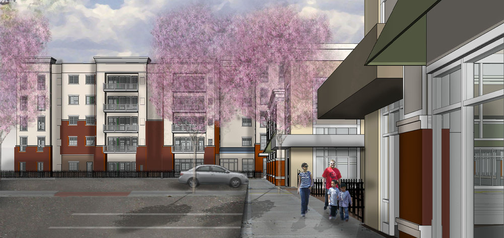 Retail-Residential Streetscape